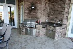 LOVE this outdoor grilling area