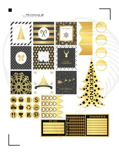 A personal favorite from my Etsy shop https://www.etsy.com/listing/254214138/golden-christmas-horizontal-weekly