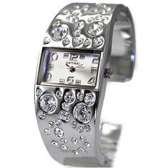 FW680C New Shiny Silver Band Okrogla PNP Shiny Silver Watchcase Ženske Zapestnica Watch