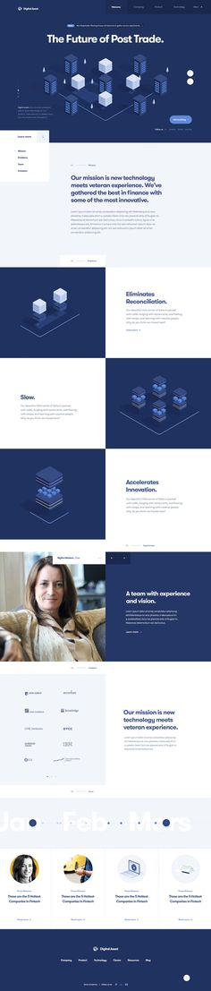 Digital Asset – Distributed Ledger: Ui design concept and visual identity by Julien Renvoye. Page Design, Layout Design, Web Layout, Cover Design, Engineering Websites, Financial Website, Flat Web Design, Visual Identity, Identity Branding