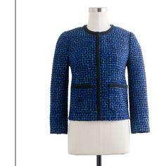 Lady Jacket In Blue Tweed ($198) via Polyvore