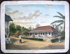 Schoolplaten: Indië, wachthuis (Modjo Warno), oude schoolplaten, bali, indonesia