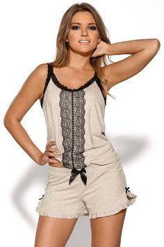 Piżama firmy Ava https://ekskluzywna.pl/bielizna-nocna-damska #bielizna