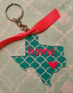 3 in Texas acrylic keychain