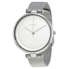 Skagen Womens Tanja Stainless Steel Mesh Watch -- Check this awesome product by going to the link at the image. (This is an affiliate link) Skagen Watches, Mesh Bracelet, Stainless Steel Mesh, Casual Watches, Quartz, Silver, Accessories, Gender Female, Image Link