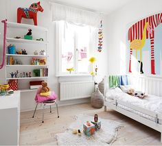 Scandi Decoration: Colourful ideas for kids rooms