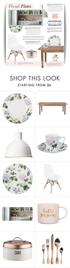 """""""Garden Party Kitchen"""" by cara-mia-mon-cher ❤ liked on Polyvore featuring interior, interiors, interior design, home, home decor, interior decorating, Ted Baker, Home Decorators Collection, Muuto and Clay Art"""