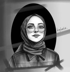 Hijab Drawing, Islamic Cartoon, Anime Muslim, Hijab Cartoon, Muslim Beauty, Islamic Girl, Girly M, Muslim Girls, Anime Art Girl
