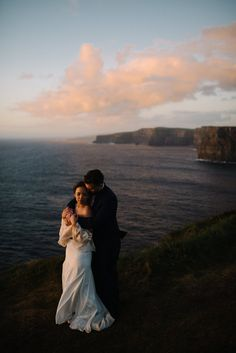 Adventurous Elopement on the Cliffs of Moher in Ireland