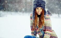 People women fluffy hat blue eyes smiling winter snow redhead depth of field Izabela Magier Winter Make-up, Winter Hair, Winter Ideas, Sephora, Tech House Music, Woman Smile, Girl Smile, Widescreen Wallpaper, Winter Is Coming