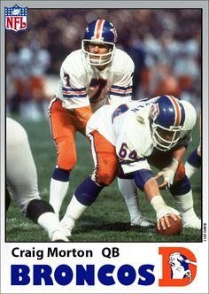 """Craig (""""Rainbow"""") Morton, the original Denver Broncos #7,"""