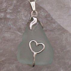 Sea Glass Pendant Coastal Romance Sterling Silver £35.00