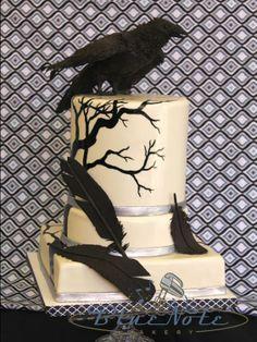 Edgar Allen Poe themed wedding - with the Raven | Blue Note Bakery - Austin, Texas