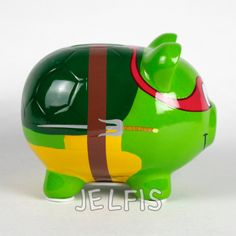 "Jelfis.com - Teenage Mutant Ninja Turtle 4.5"" Large Ceramic Piggy Bank with Painted Design, $17.99 (http://www.jelfis.com/teenage-mutant-ninja-turtle-4-5-large-ceramic-piggy-bank-with-painted-design/)"