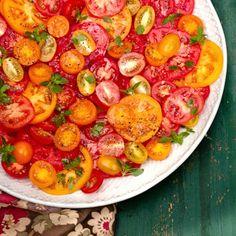 Multicoloured Tomato Salad with Basil recipe-salad recipes-recipe ideas-new recipes-woman and home