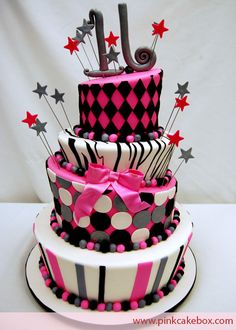 Photo courtesy of Pink Cake Box. This would be a great sweet 16 cake Pretty Cakes, Cute Cakes, Beautiful Cakes, Amazing Cakes, Sweet 16 Birthday Cake, Birthday Cake Girls, 16th Birthday, Birthday Ideas, Sixteenth Birthday
