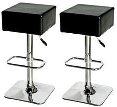 Black Square Bar Stools - Modern Furniture and Lighting | Modern Furniture and Lighting