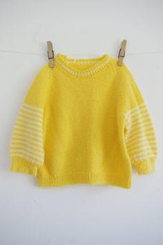 Vintage Children Sweater - Preppy Yellow - Mitu Vintage