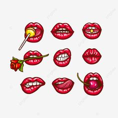 Kunst Tattoos, Pop Art Tattoos, Tattoos Of Lips, Lips Tattoo Ideas, Red Lips Tattoo, Tatoos, Pop Art Lips, Lip Art, Arte Pop