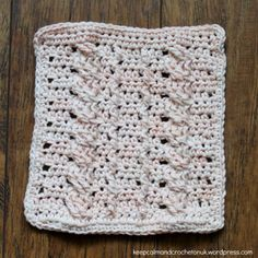 Stitch Story Crochet Along   Design 10 – Cabled Ropes - Small Block