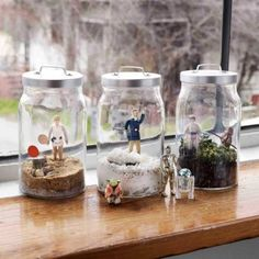 """""""Star Wars"""" terrariums from """"World of Geekcraft: Step-by-Step Instructions for 25 Super-Cool Craft Projects"""" by Susan Beal."""