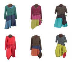 secret lentil slant six dresses - color blocking