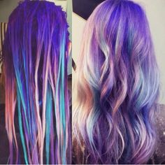 if I did my hair like this it would always look like the second one coz i almost nevr flaten my hair