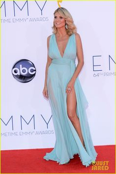 Heidi Klum - Emmys 2012 Red Carpet - seriously could she not be more gorgeous?!