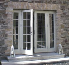 Looking for French Double Doors? Carlson supply custom made french doors ideal for patio doors for your home. Old French Doors, French Windows, French Doors Patio, French Patio, Exterior French Doors, Front Door Paint Colors, Painted Front Doors, Balcony Doors, Patio Doors