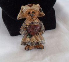 Vintage Resin Nurse Bear brooch, collectible Get well soon, feel better brooch #Unbranded
