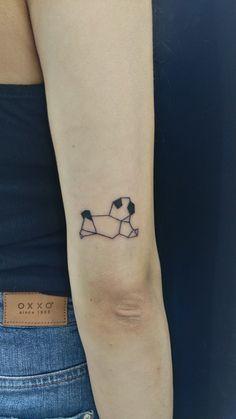pug dog animals tattoo designs geometric
