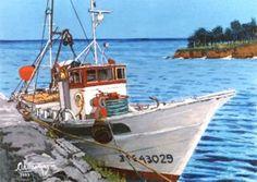 Pesquero, 2005, Acrílico, 30x22 cm.Adriano Paz Martínez