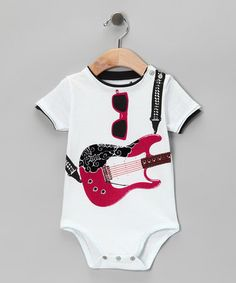 Take a look at this Pink Cloud Electric Guitar Bodysuit - Infant by Mini Shatsu on #zulily today!