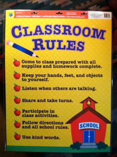 2 Set Educational Charts: Classroom Rules &Today's Reminders ~Great Resource | eBay I have 5 available at $4.00 each