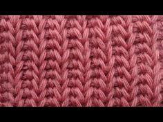 Начинаем вязать – Видео уроки вязания » Имитация резинки – Узор №47 – Тунисское вязание