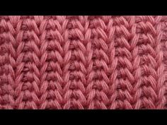 Tunisian crochet tutorial Английская резинка Тунисское вязание  Узор 12 - YouTube