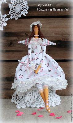 Tilda muñeca hecha a mano. Masters justas - hecho a mano. Comprar Tilda Ángel, Rosalind. Hecho a mano. Rosas, sintepon de relleno