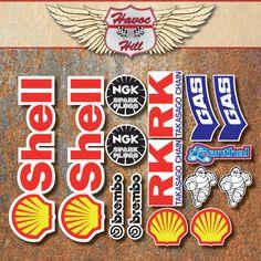Motorcycle race sticker set