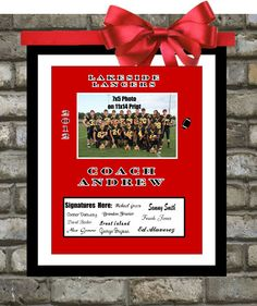 Custom For Coach Team Sports Signature Print: Players Sign 11x14 End of Year Personalized With Coach Name, Team Name, Date, Custom Wall Art on Etsy, $50.00