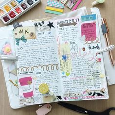 Last week in my weekly journal. I don't have much to write about daily but I do enjoy doing up layouts and sticking / stamping stuff everywhere . . #websterspages #websterspagestravelersnotebook #midoritravelersnotebook #travelersnotebook #travelersnote #scrapbook #scrapbooking #journal #artjournal #traveljournal #papercraft #crafty #stationeryaddict #planneraddict #planneraddictmalaysia #plannercommunity #diecut #stamping #washitape