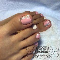 489 Likes, 7 Comments - Педикюр Идеи педикюра Pedicure ( Toe Nail Color, Toe Nail Art, Nail Colors, Fabulous Nails, Gorgeous Nails, Love Nails, Pretty Nails, Pedicure Nail Art, Pedicure Design