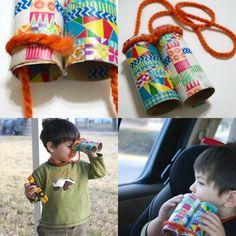 Easy kids craft: recycled binoculars - Washi Tape Crafts