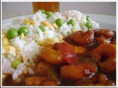 Camarão agridoce com arroz xau xau, Receita Petitchef