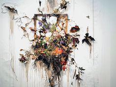 Juxtapoz Magazine - Update: Decaying Fine Art by Valerie Hegarty Sculpture Art, Sculptures, Modern Art, Contemporary Art, Traditional Frames, Best Of Tumblr, A Level Art, Dark Art, White Flowers