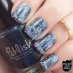 Rain, Rain Go Away & Don't Come Back // Polish Those Nails // Twinsie Tuesday - Weather // Inspired by Nic Squirrell // nail art - indie polish - pahlish - lynbdesigns - sinful colors - zoya