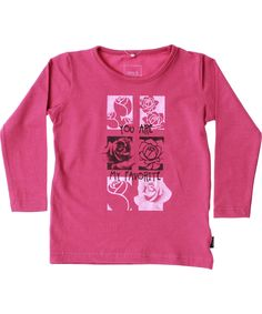 Name It fantastische roze t-shirt met bloemen. name-it.nl.emilea.be