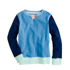 Boys' pullover in colorblock by J Crew