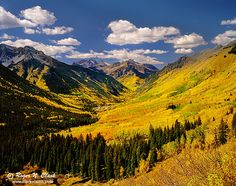 Ophir Valley, San Juan Mountains, Fall in Colorado. Durango Colorado, Visit Colorado, Colorado Homes, Colorado Country, Oh The Places You'll Go, Places To Travel, Places To Visit, Colorado Mountains, Paisajes