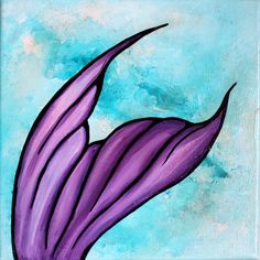 "Purple Dive, acrylic on canvas 8""x8"" by Ann-Marie Cheung"