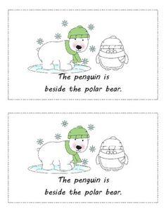 Winter Common Core Positional Words for Kindergarten